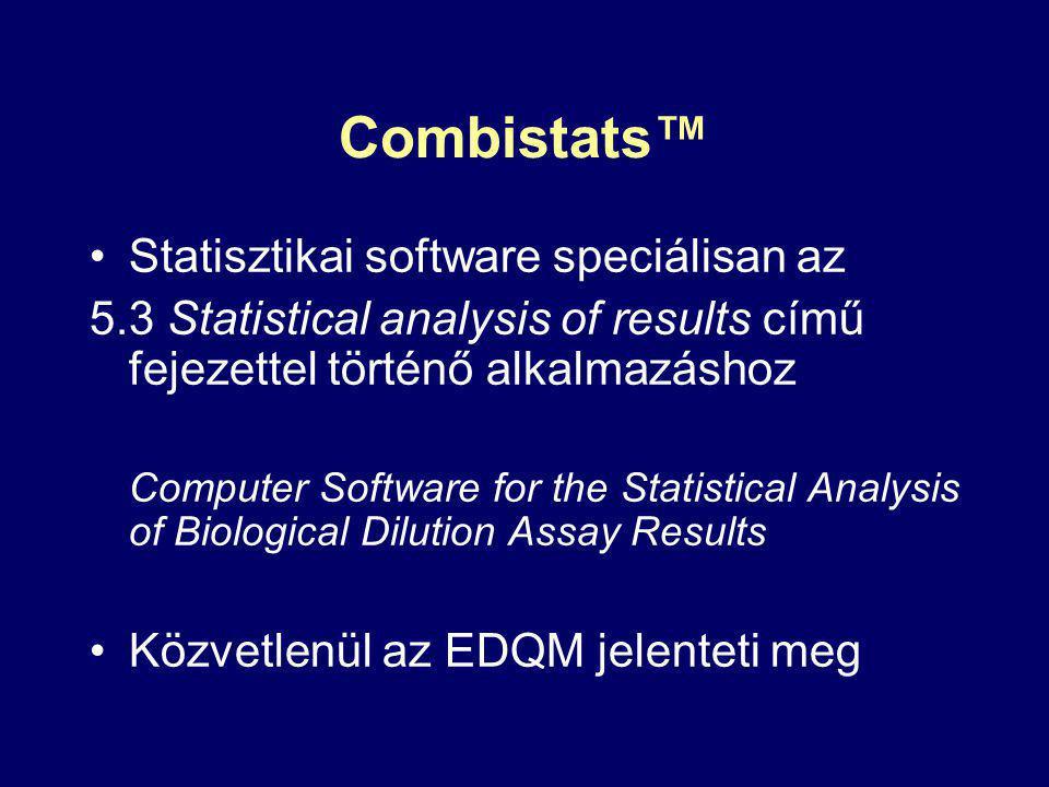 Combistats™ Statisztikai software speciálisan az