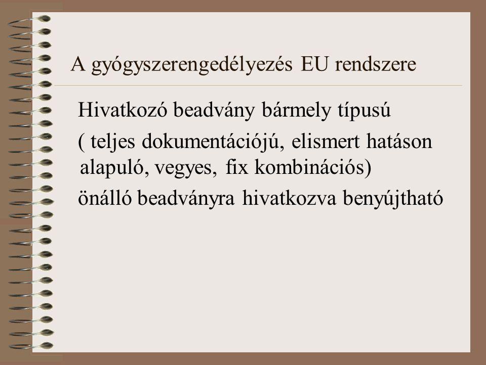 A gyógyszerengedélyezés EU rendszere