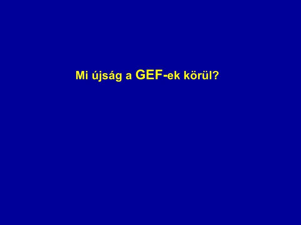 Mi újság a GEF-ek körül