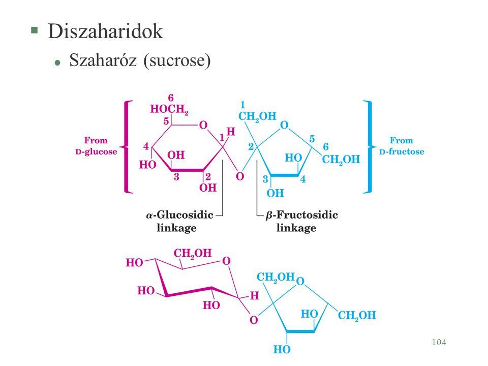 Diszaharidok Szaharóz (sucrose)