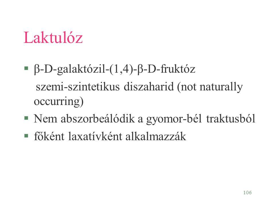 Laktulóz β-D-galaktózil-(1,4)-β-D-fruktóz