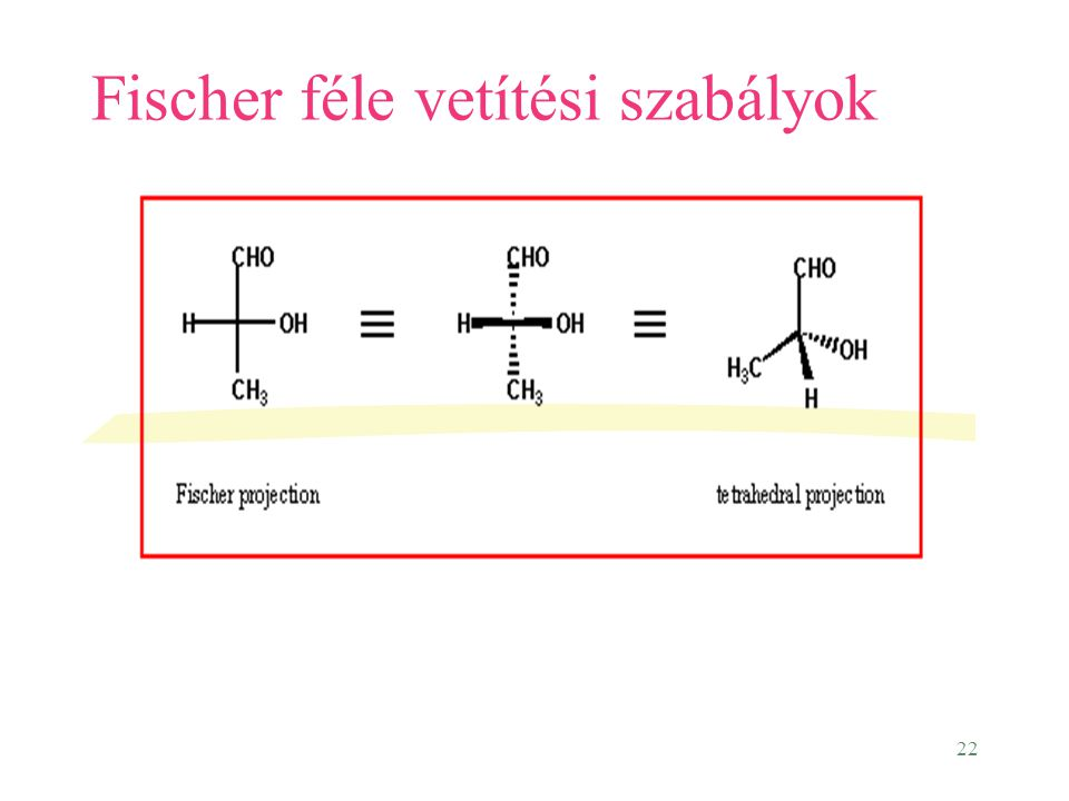 Fischer féle vetítési szabályok
