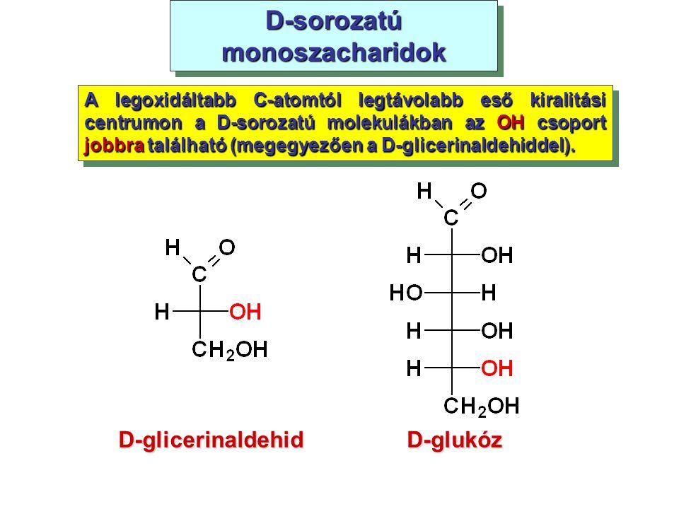 D-sorozatú monoszacharidok