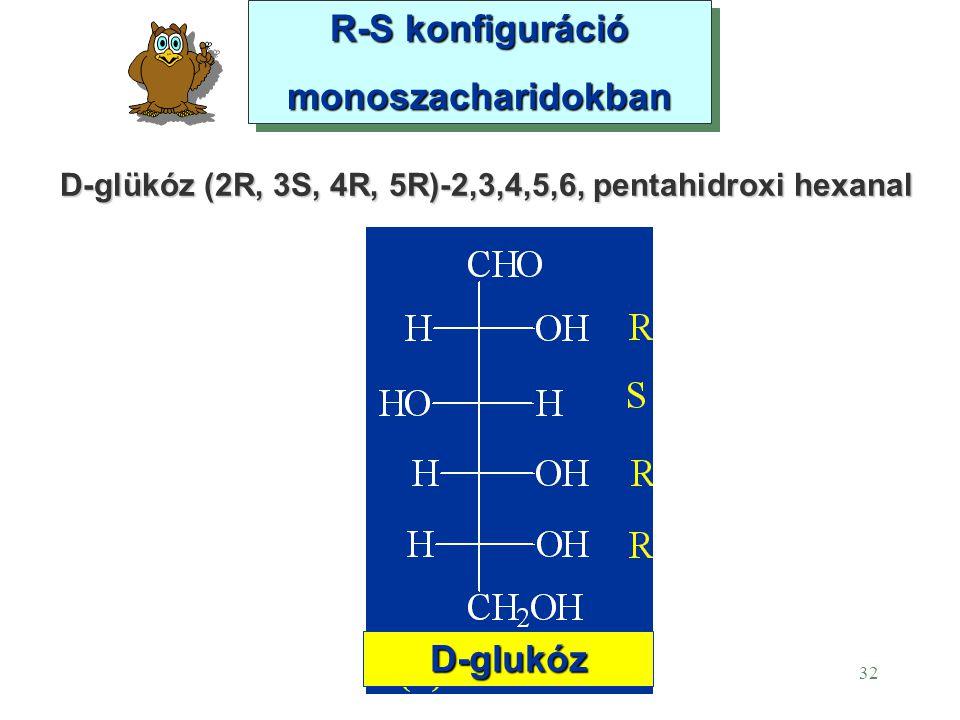 D-glükóz (2R, 3S, 4R, 5R)-2,3,4,5,6, pentahidroxi hexanal