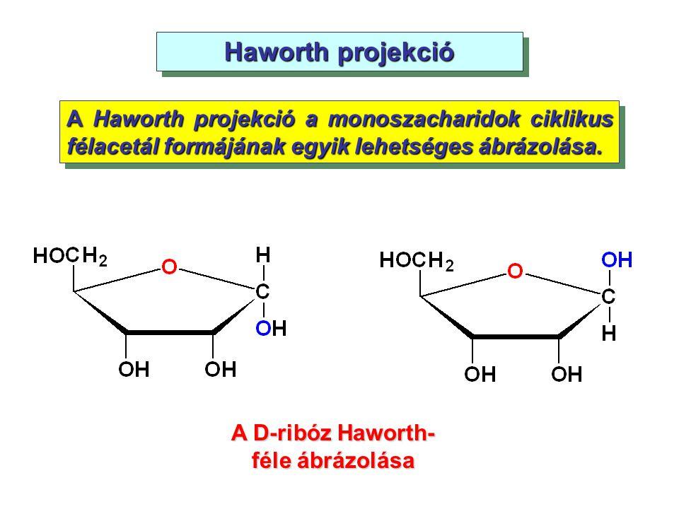 A D-ribóz Haworth-féle ábrázolása