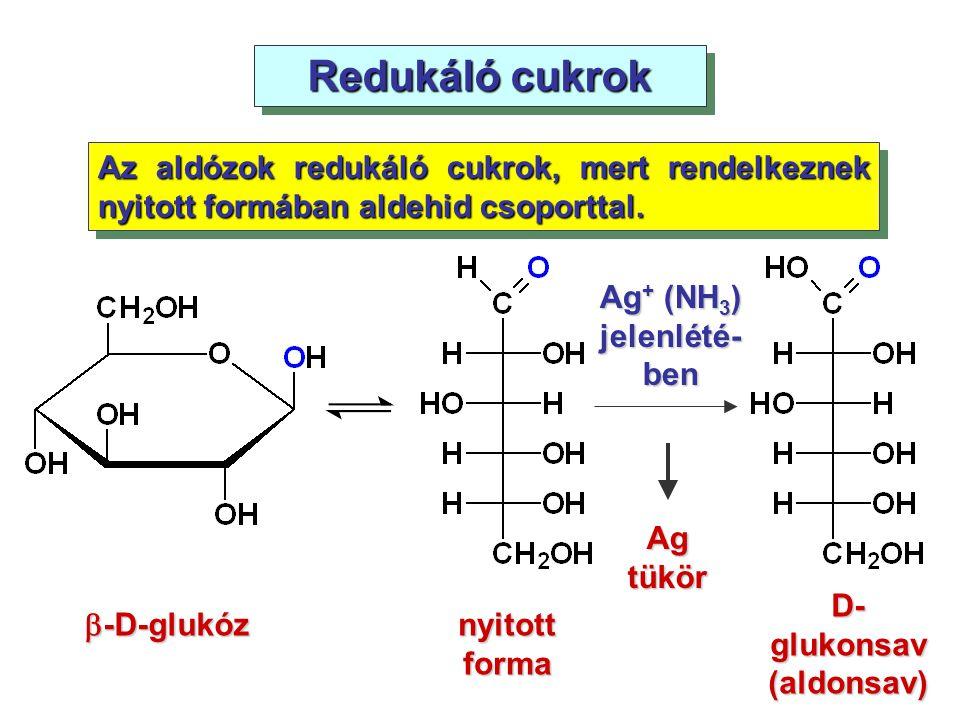 Ag+ (NH3) jelenlété-ben D-glukonsav(aldonsav)