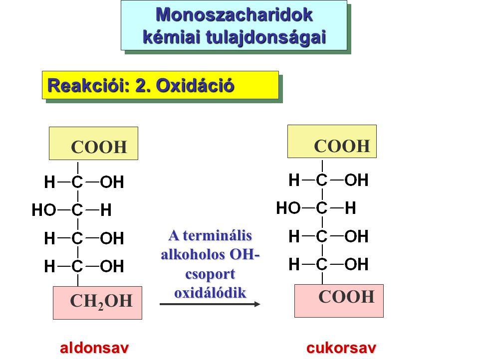 Monoszacharidok kémiai tulajdonságai