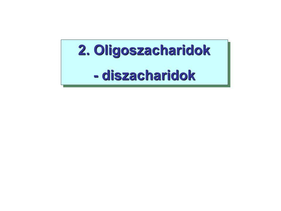 2. Oligoszacharidok - diszacharidok