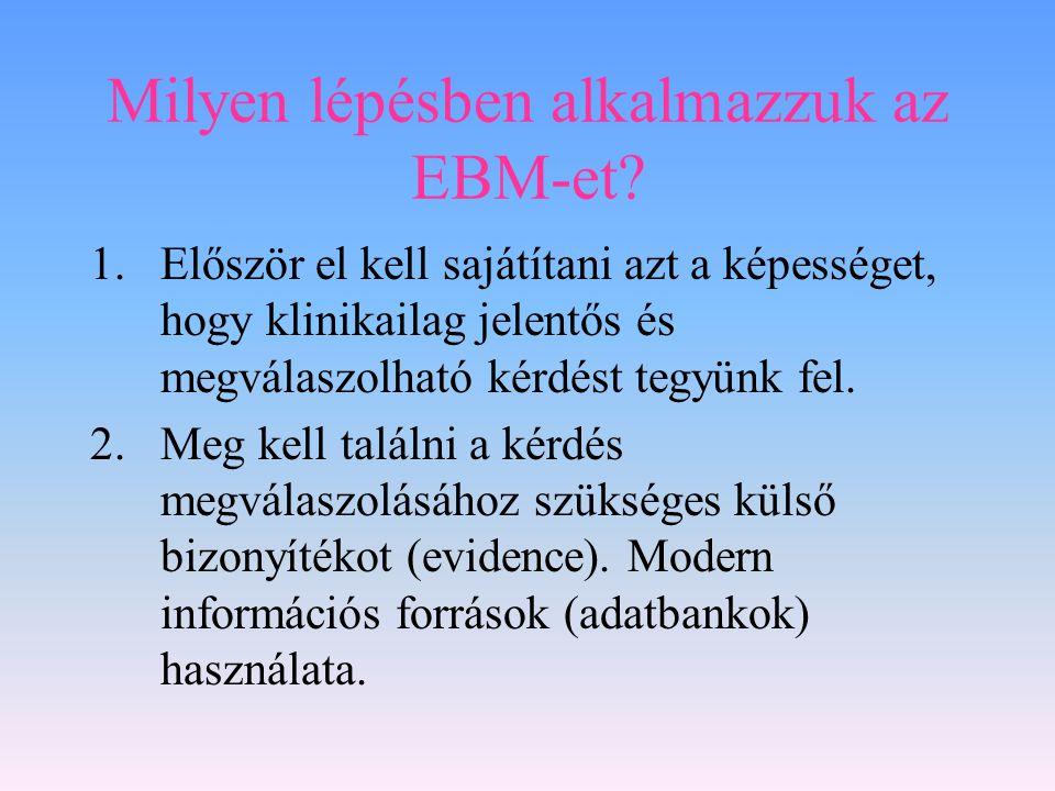 Milyen lépésben alkalmazzuk az EBM-et