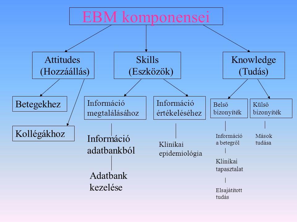 EBM komponensei Attitudes (Hozzáállás) Skills (Eszközök)