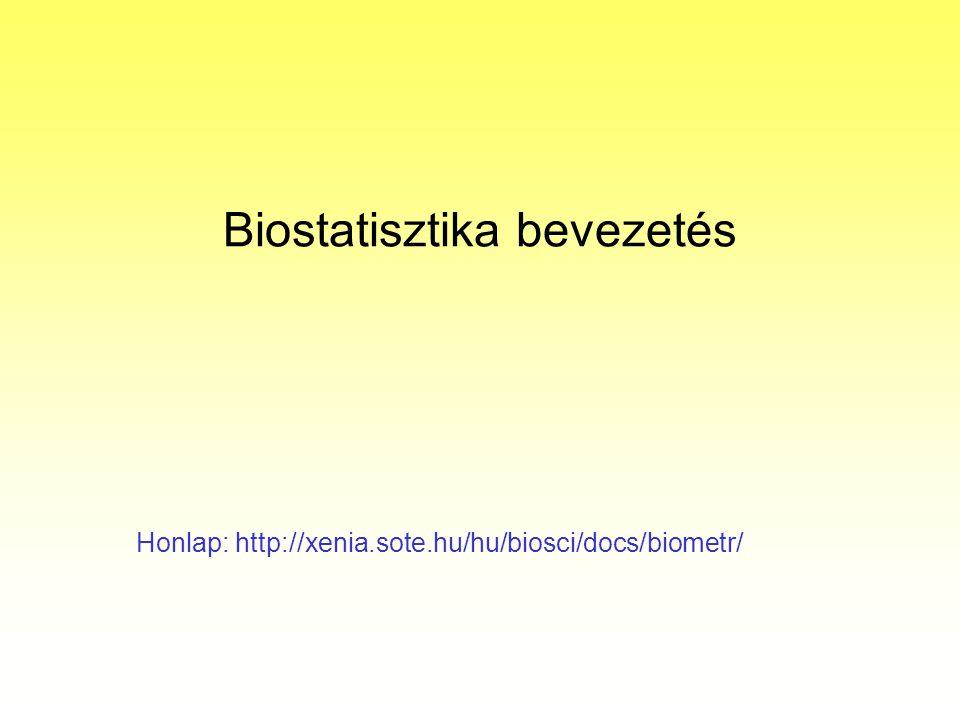 Biostatisztika bevezetés