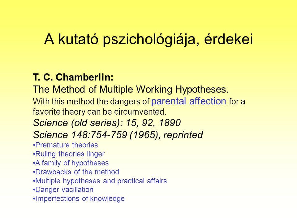 A kutató pszichológiája, érdekei