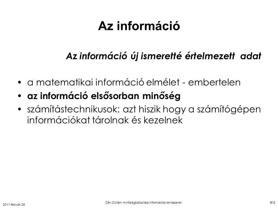 Déri Zoltán: minőségbiztosítási információs rendszerek