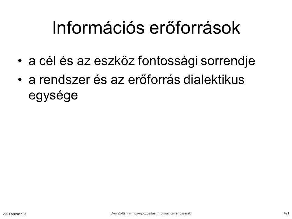 Információs erőforrások