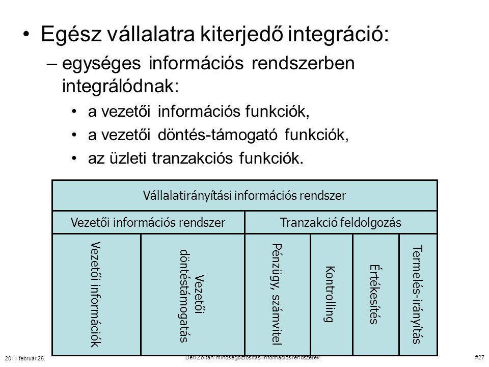 Egész vállalatra kiterjedő integráció: