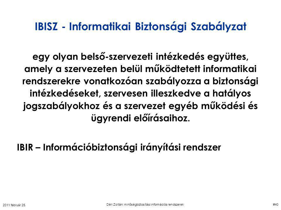 IBISZ - Informatikai Biztonsági Szabályzat