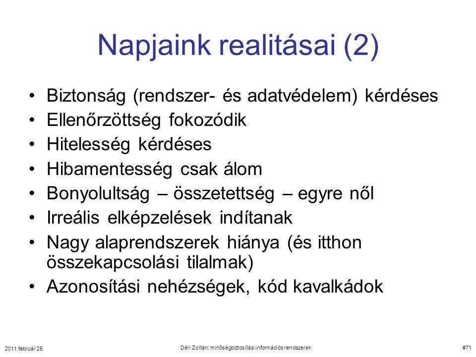 Napjaink realitásai (2)