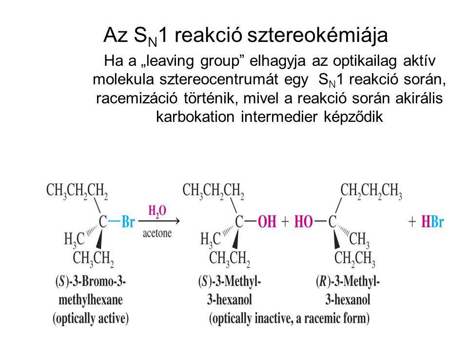 Az SN1 reakció sztereokémiája