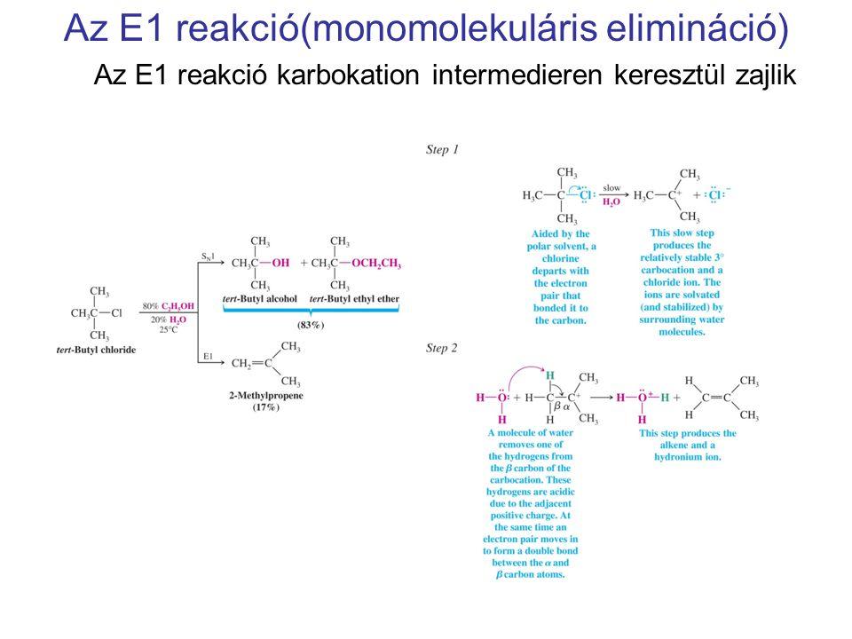 Az E1 reakció(monomolekuláris elimináció)