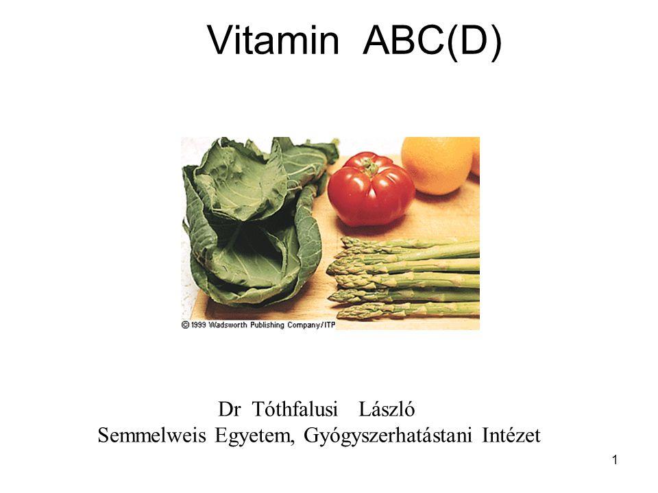 Vitamin ABC(D) Dr Tóthfalusi László