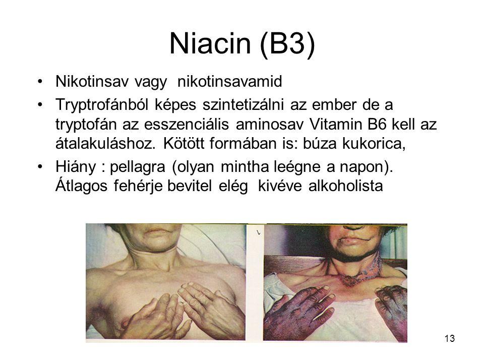Niacin (B3) Nikotinsav vagy nikotinsavamid