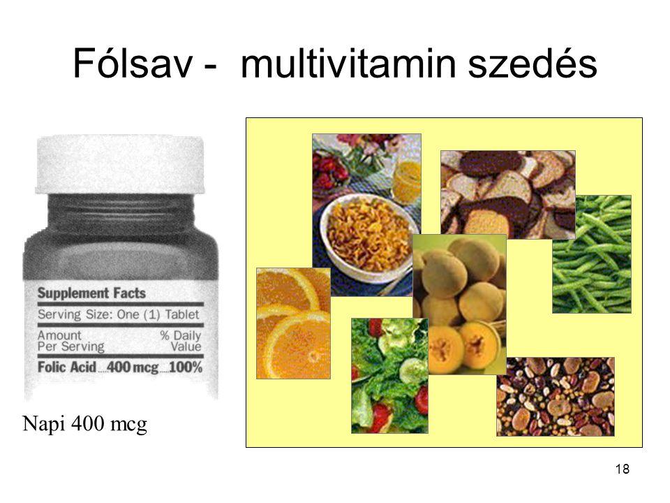 Fólsav - multivitamin szedés