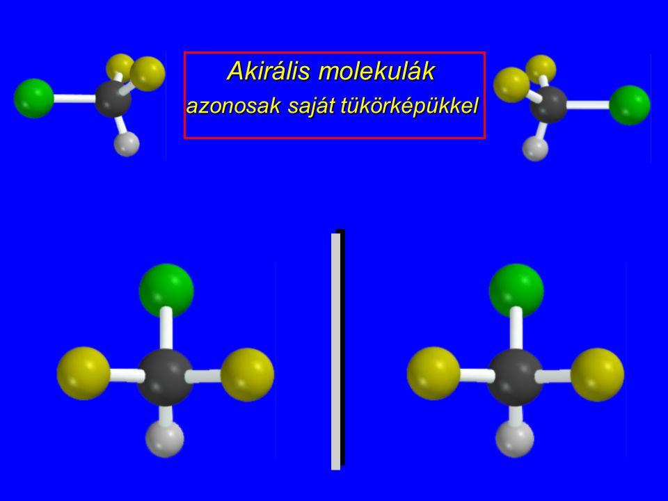 Akirális molekulák azonosak saját tükörképükkel