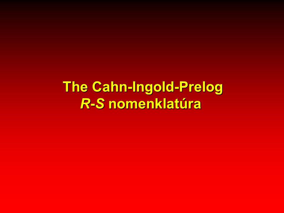 The Cahn-Ingold-Prelog R-S nomenklatúra