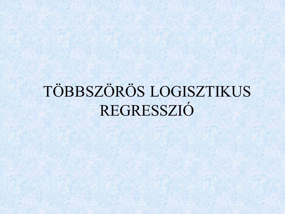 TÖBBSZÖRÖS LOGISZTIKUS REGRESSZIÓ