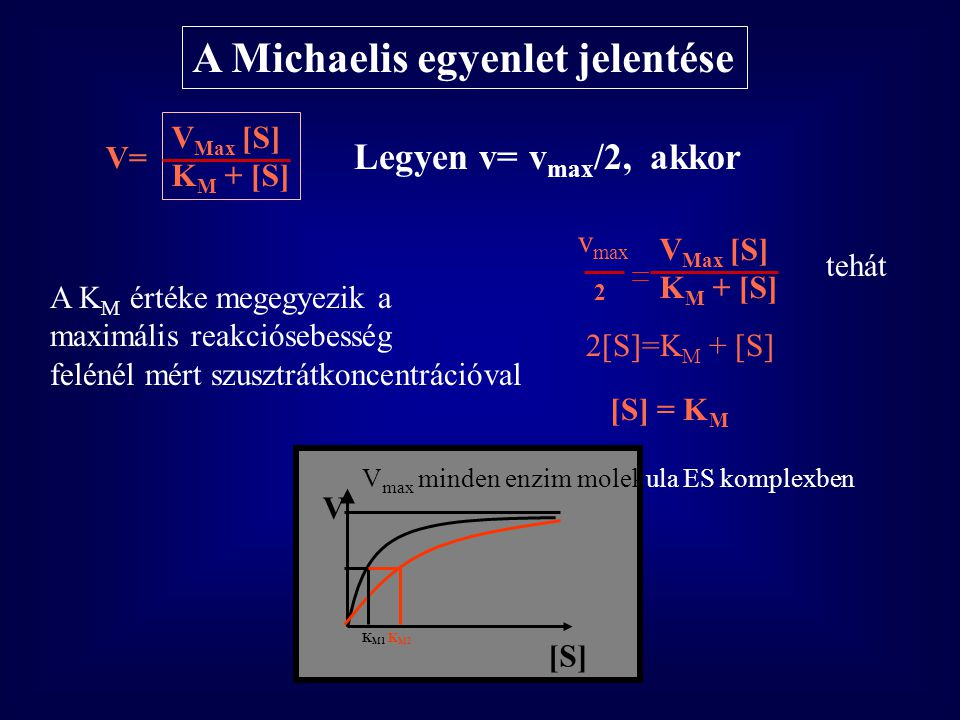 A Michaelis egyenlet jelentése
