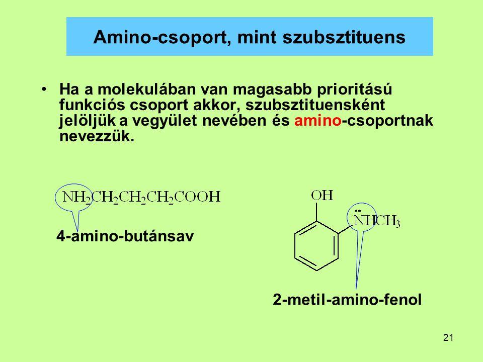 Amino-csoport, mint szubsztituens