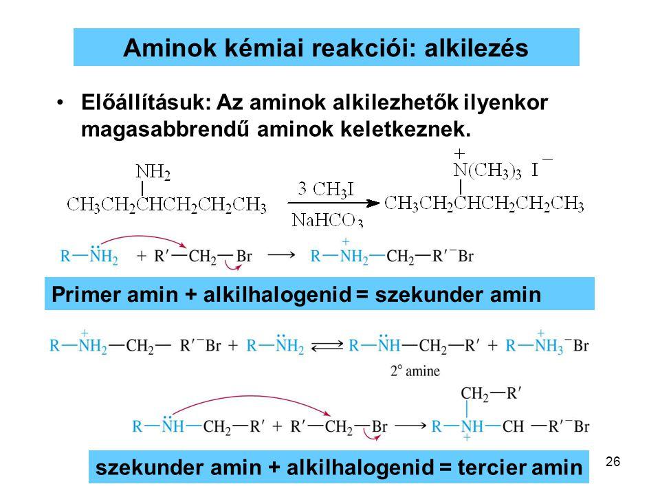 Aminok kémiai reakciói: alkilezés