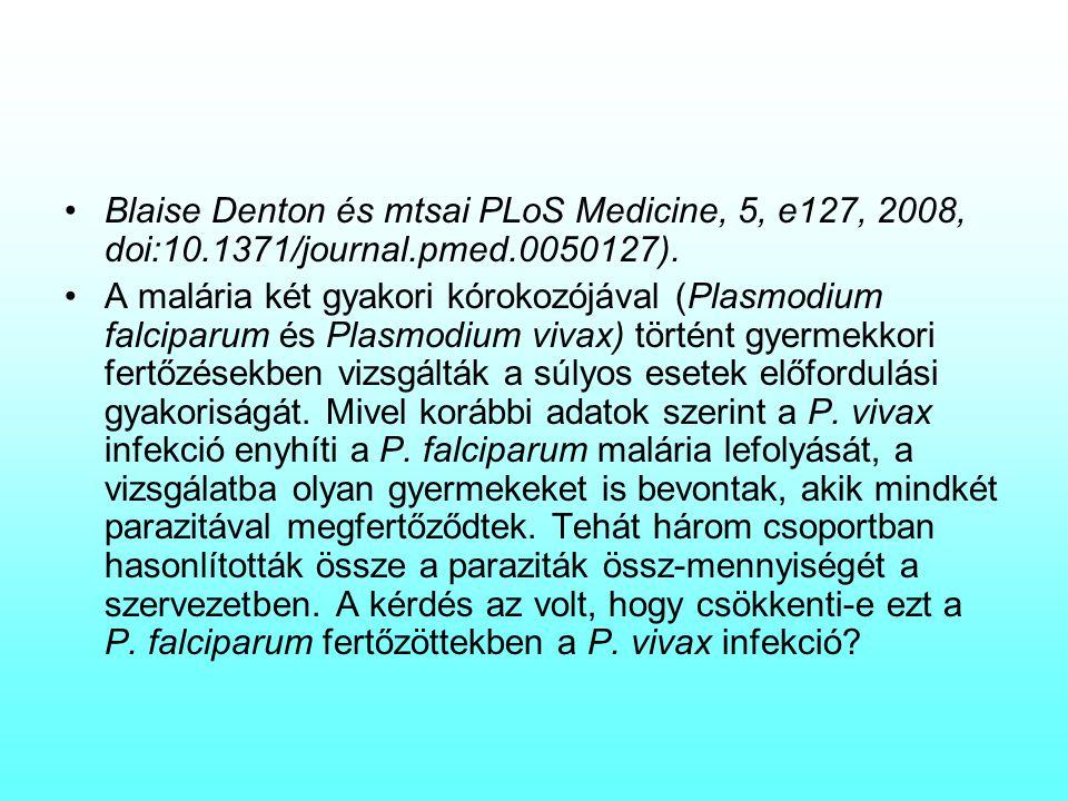 Blaise Denton és mtsai PLoS Medicine, 5, e127, 2008, doi:10