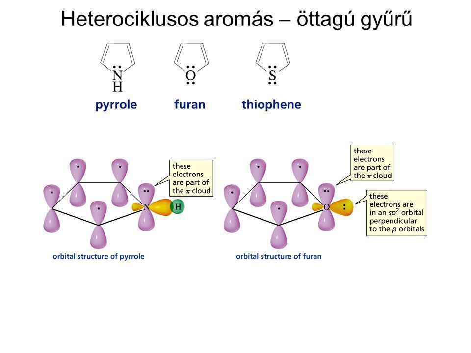 Heterociklusos aromás – öttagú gyűrű