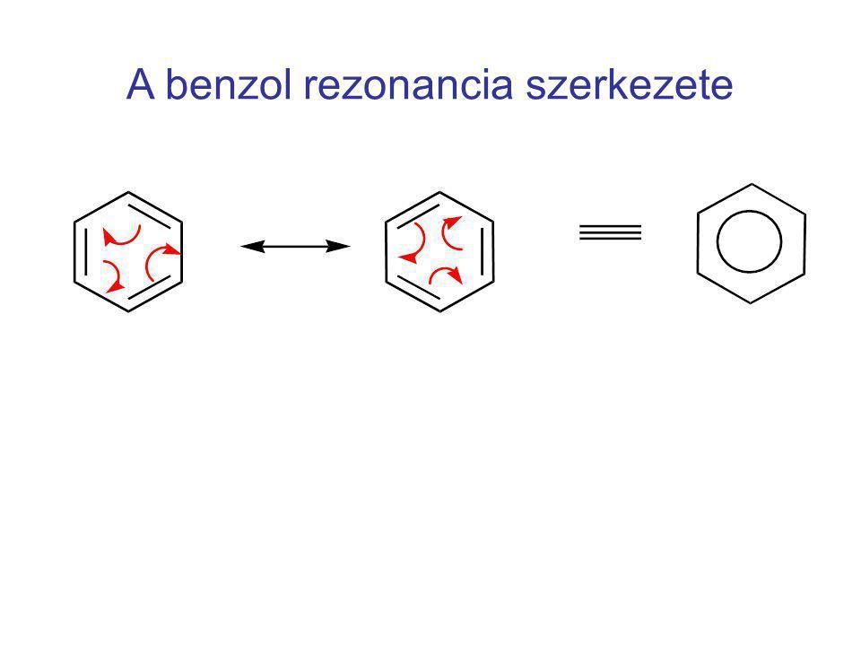 A benzol rezonancia szerkezete