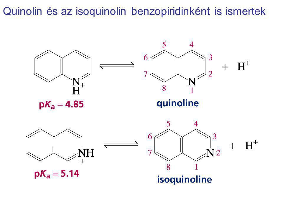 Quinolin és az isoquinolin benzopiridinként is ismertek