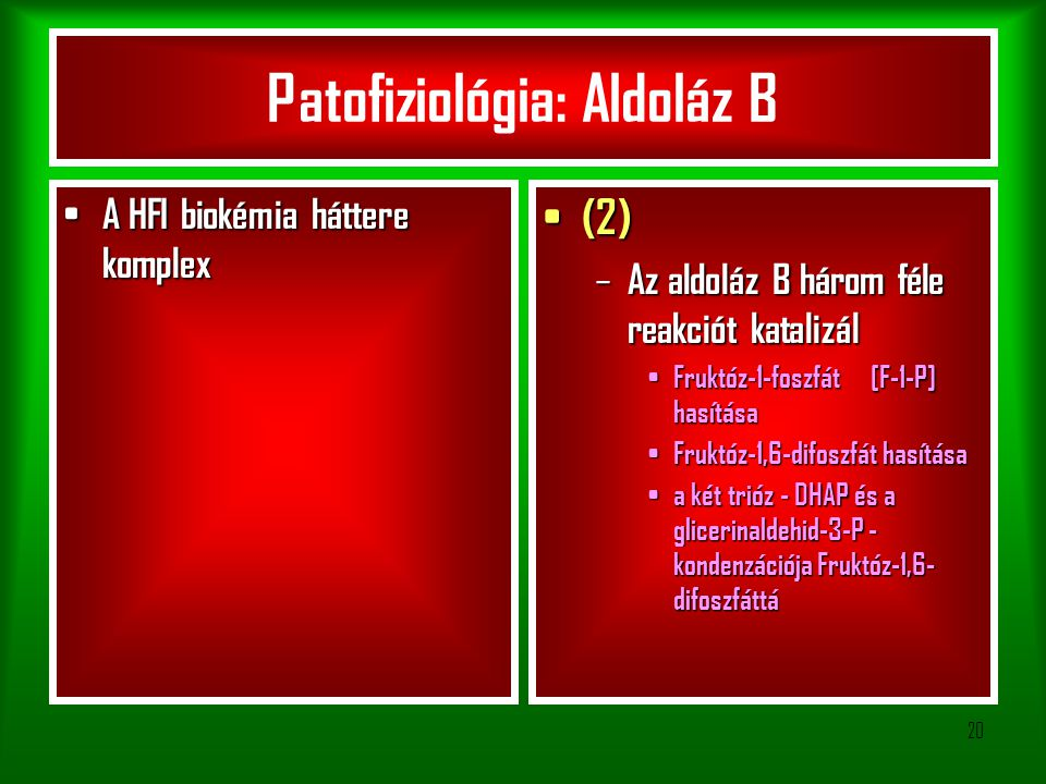 Patofiziológia: Aldoláz B