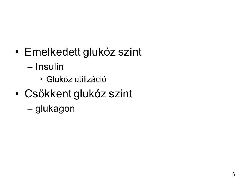 Emelkedett glukóz szint