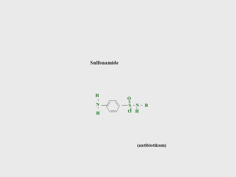 Sulfonamide H O = N S N R ═ O H H (antibiotikum)