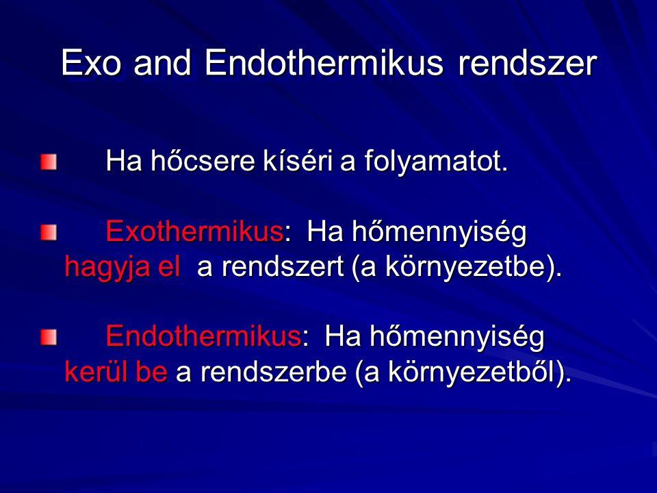 Exo and Endothermikus rendszer