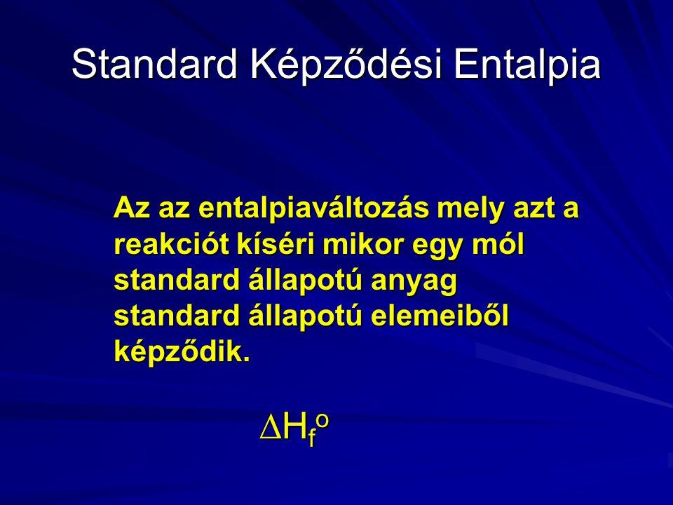 Standard Képződési Entalpia