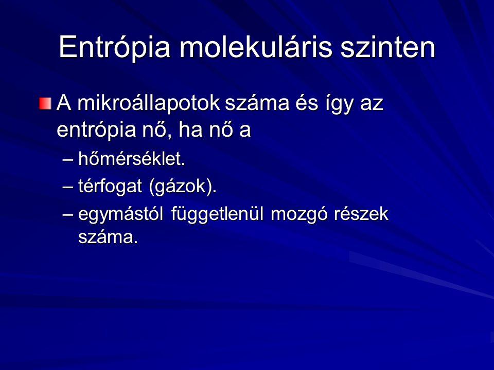 Entrópia molekuláris szinten