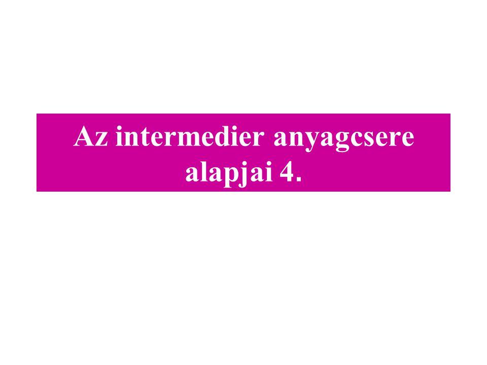 Az intermedier anyagcsere alapjai 4.
