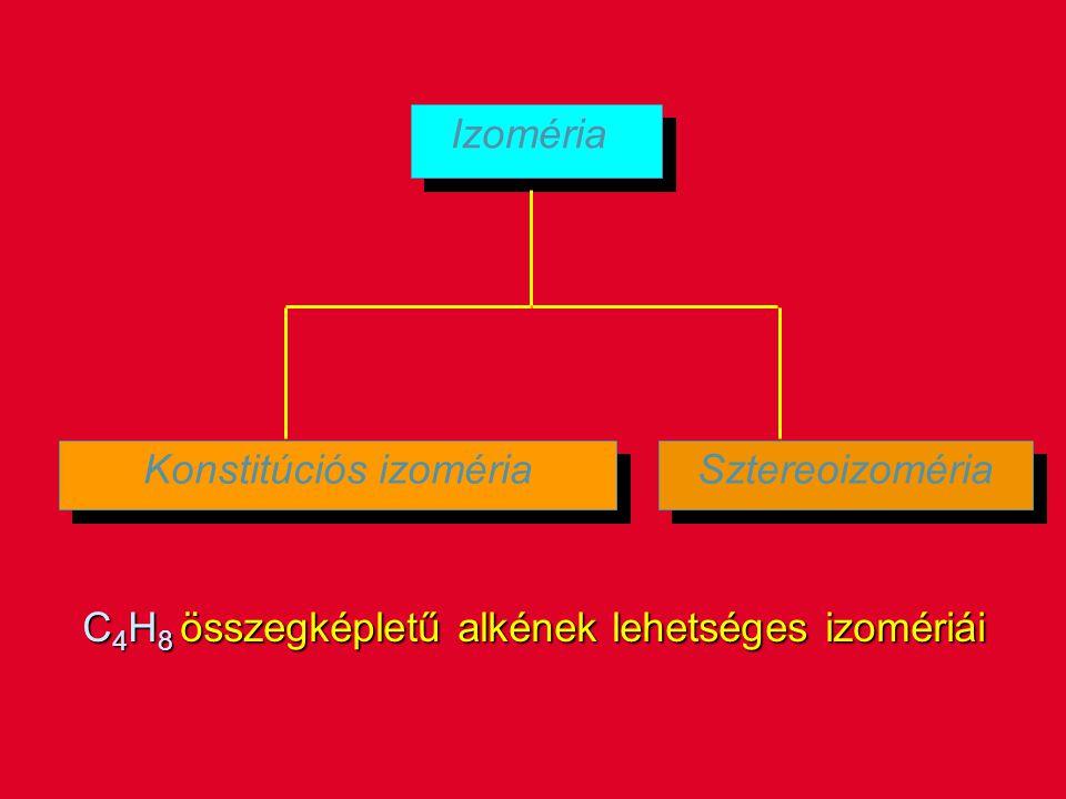 Konstitúciós izoméria Sztereoizoméria