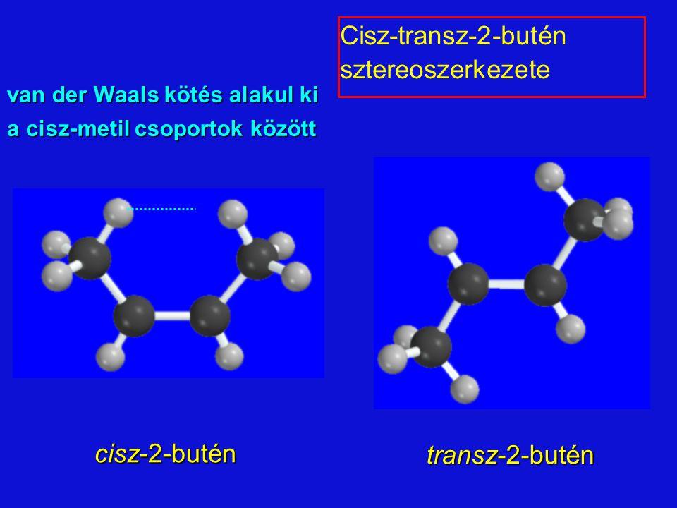 Cisz-transz-2-butén sztereoszerkezete