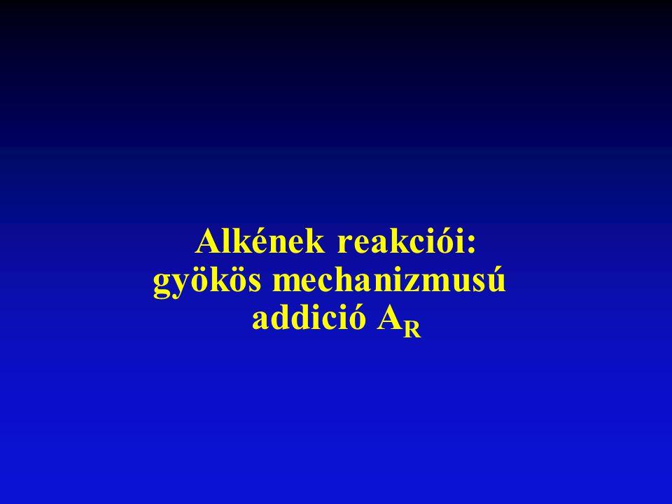 Alkének reakciói: gyökös mechanizmusú addició AR