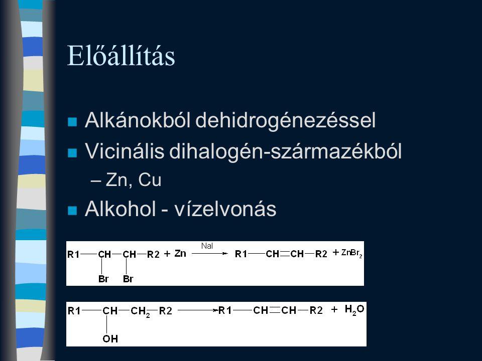 Előállítás Alkánokból dehidrogénezéssel