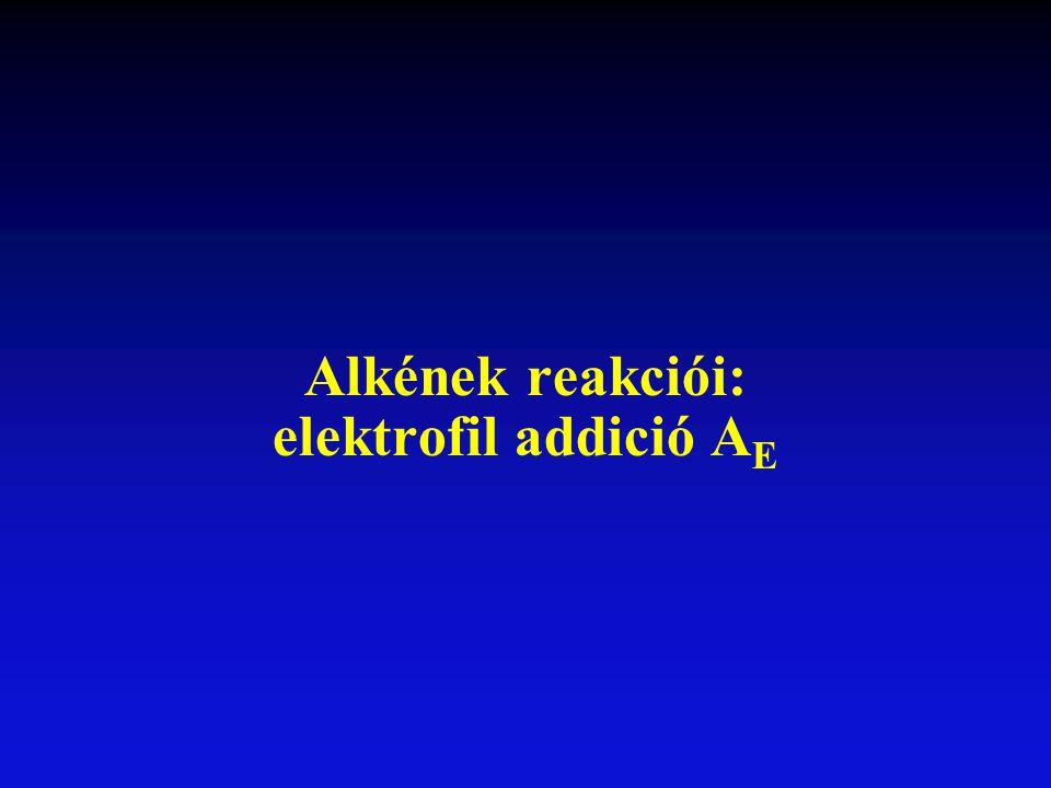 Alkének reakciói: elektrofil addició AE