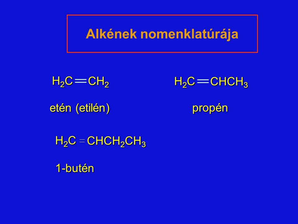 Alkének nomenklatúrája