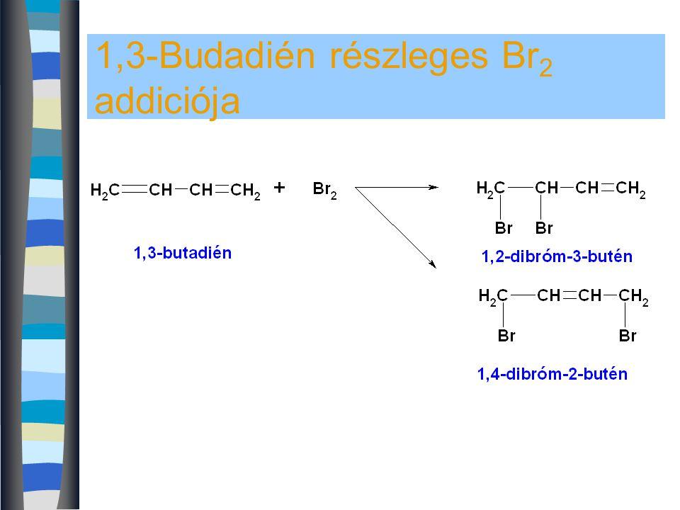 1,3-Budadién részleges Br2 addiciója